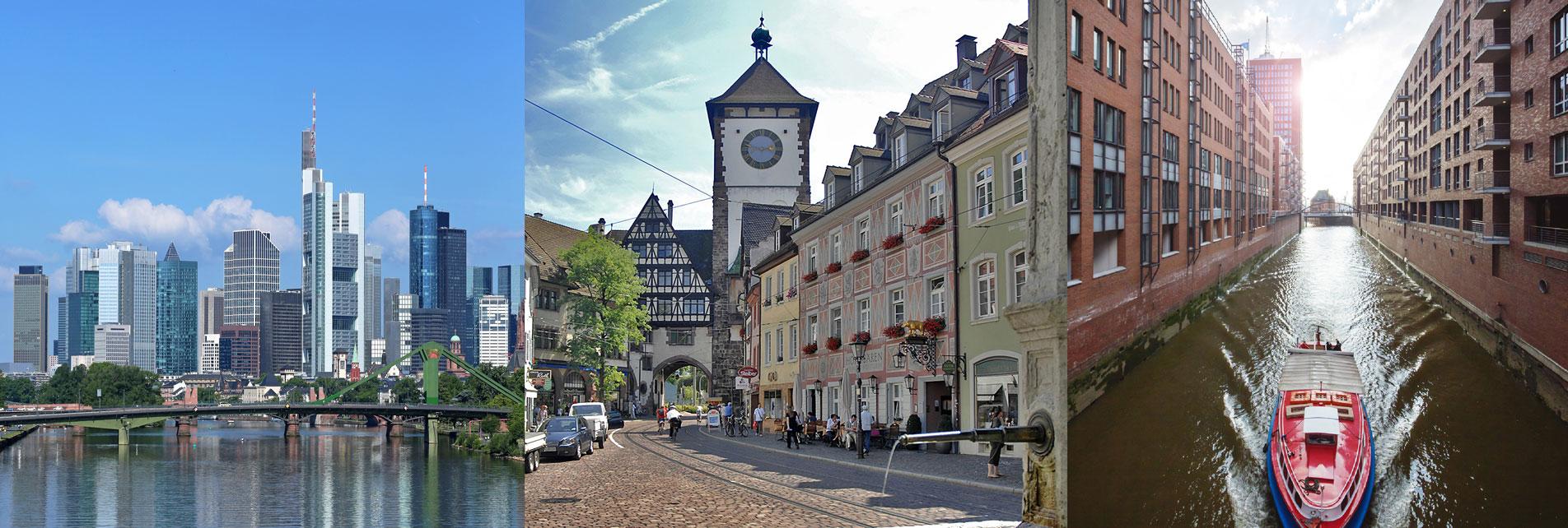 Standorte Frankfurt Freiburg Hamburg